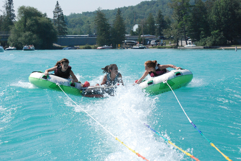 Lake fun tubing